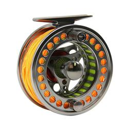 3/4 5/6 7/8 9/10WT Fly Reel Fly Line Combo CNC Machined Fly