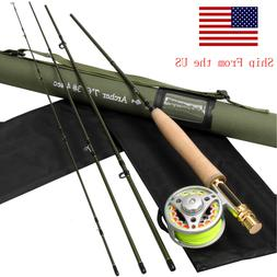 3 4 5 8WT Fly Rod Combo 36T Carbon Fiber Fly Fishing Rod wit