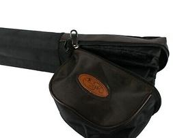 """30"""" DOUBLE Fly Rod Case w/Reel Pouch. Fits TWO 9', 4-piece r"""
