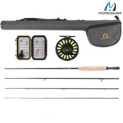 Maxcatch 5/6wt Fly Fishing Combo,9' 4-piece Rod and Avid Pre
