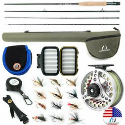 Maxcatch Extreme 3/4/5/6/7/8WT Fly Fishing Rod Combo, Fly Re