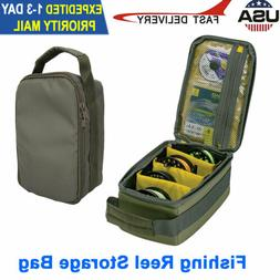 Fishing Reel Storage Case Bag Fly Tackle Gear Lure Line Orga