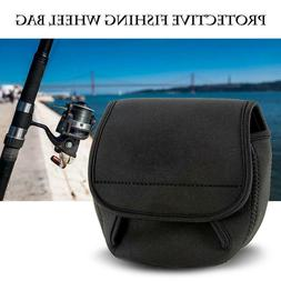 Fly Fishing Reel Storage Bag Protective Cover Case Holder Po