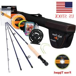 9'  8WT Fly Fishing Rod With Reel Combo 7/8WT Fly Reel and L
