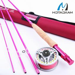 Maxcatch Hot Pink Fly Rod and Reel Combo Kit 5WT 9FT YOUTH F