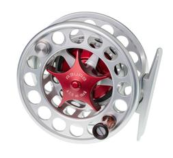 NEW BAUER SST4 CLEAR SILVER FLY REEL RED KNOB #3-5 WEIGHT FR