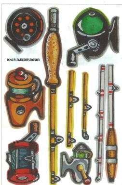 *RODS & REELS* LARGE Not So Cute STICKER SHEET Scrapbooking