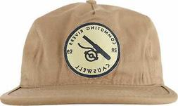 Causwell Round Fly Reel Snapback Cap Mens One Size Tobacco