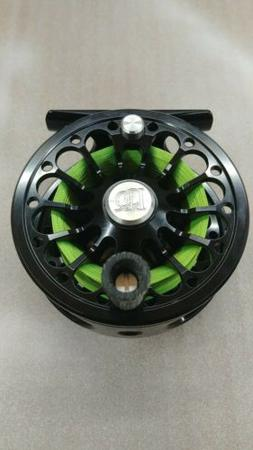 -- ROSS San Miguel Fly Reel - 3/4 - Black w/ Flo Green Backi