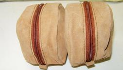 Suede-Leather-Dual-Fly-Reel-case-with-Heavy-Duty Zipper
